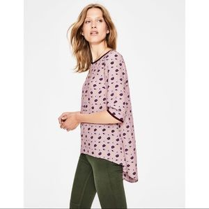 Boden Hi-Low Heritage Scattered Stars Blouse